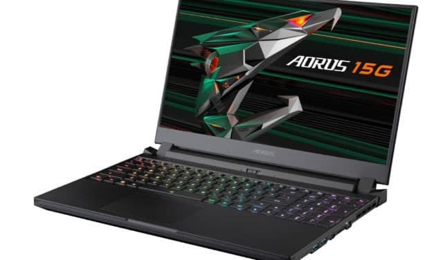 """Gigabyte Aorus 15G YC-8FR2450SH, PC portable 15"""" 240Hz gamer puissant RTX 3080 créateur Pro (2399€)"""