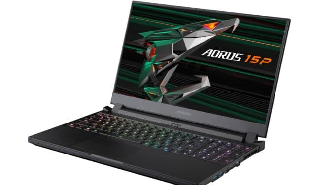 "Gigabyte Aorus 15P XC-8FR2430SH, PC portable 15"" 240Hz gamer puissant RTX 3070 Octo Core (1999€)"