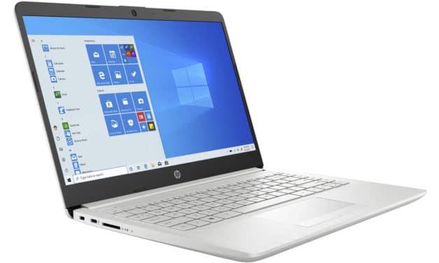HP 14-dk1022nf, ultraportable 14 pouces bureautique rapide et pas cher (399€)