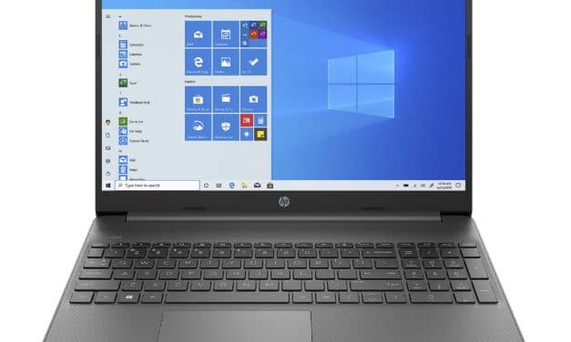 """HP 15s-fq2005nf, Ultrabook 15"""" anthracite polyvalent pas cher léger fin et rapide avec SSD (559€)"""