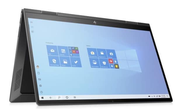 HP Envy x360 15-ed1013nf finition bois, Ultrabook 15 pouces 4K AMOLED 2-en-1 tactile Tablette polyvalent Tiger Lake Iris Xe (1439€)
