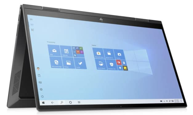 HP Envy x360 15-ed1051nf, ultrabook 15 pouces convertible en tablette multimédia avec Iris Xe et détails bois (1149€)