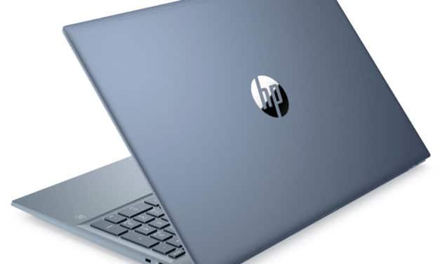 """HP Pavilion 15-eh0005nf, PC portable 15"""" aluminium bleu AMD polyvalent rapide fin et léger avec SSD 1 To (899€)"""