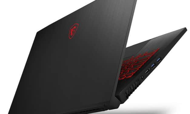"MSI GF75 9SD-267FR Thin, PC portable 17"" 144Hz gamer léger GTX 1660 Ti RAM 16 Go (1079€)"