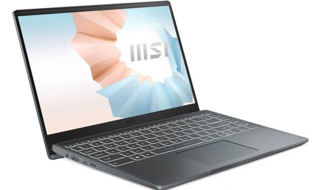 MSI Modern 14 B11MO-052FR, ultrabook 14 pouces léger pour le multimédia avec Iris Xe (799€)