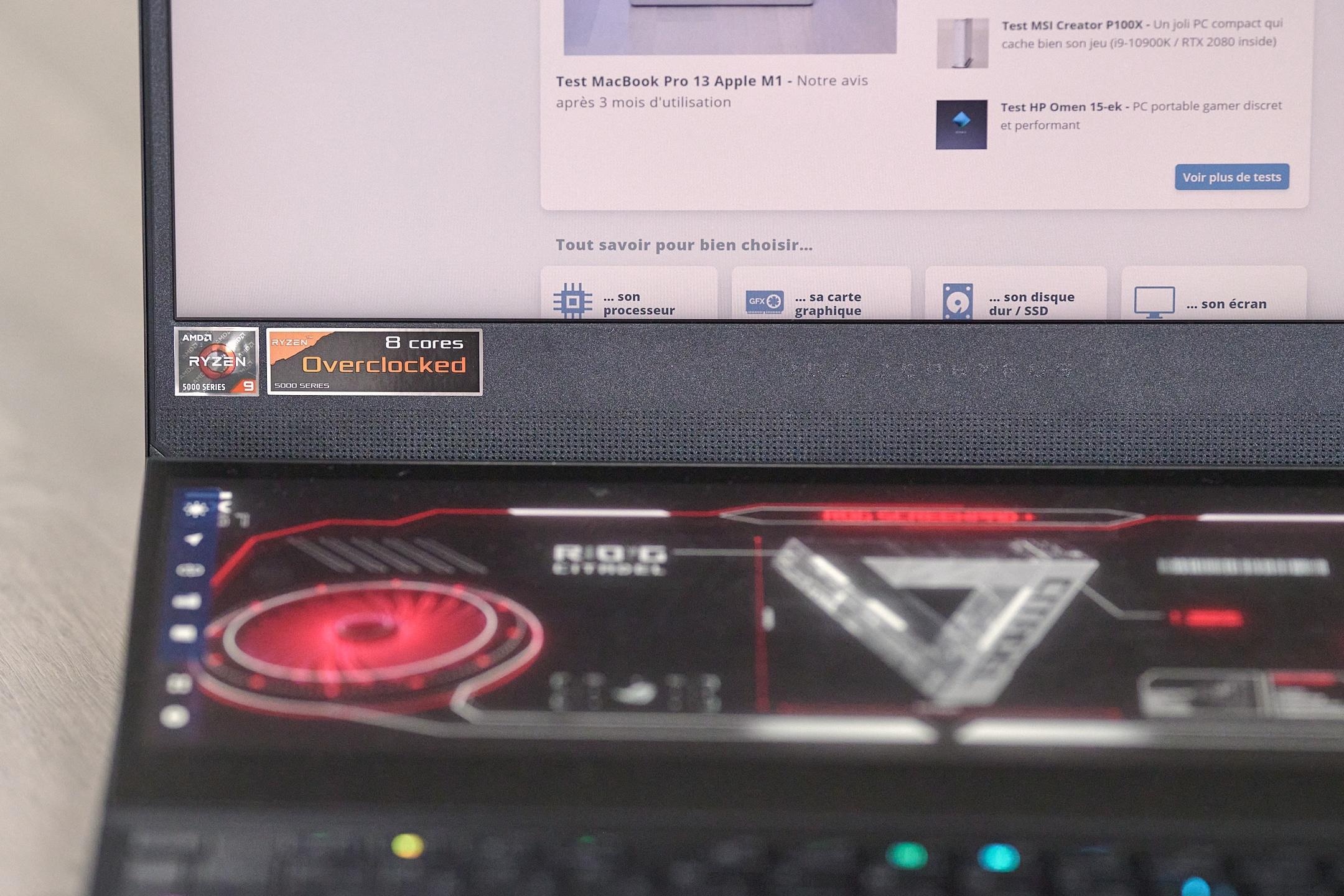 Test PC Gamer Asus Zephyrus Duo GX551Q