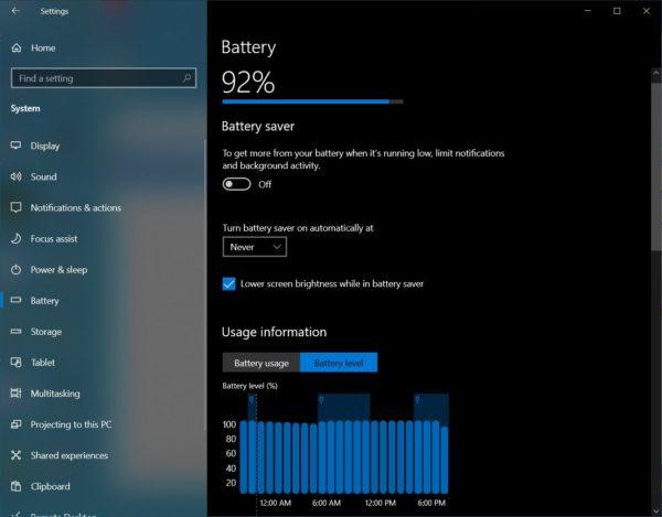 Windows 10 build 21313 batterie Albacore