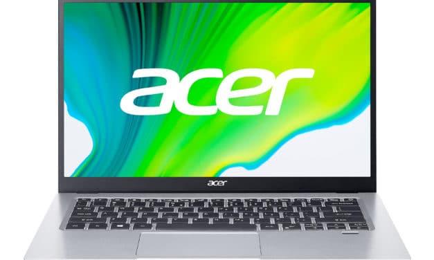 Acer Swift SF114-33-P8T3, ultraportable 14 pouces léger, rapide et silencieux (499€)