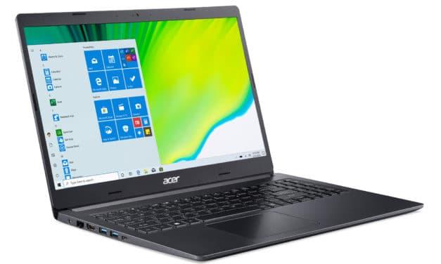 """Acer Aspire 5 A515-44G-R6P8, PC portable 15"""" noir AMD polyvalent léger fin et rapide 7h avec SSD et Radeon RX (999€)"""
