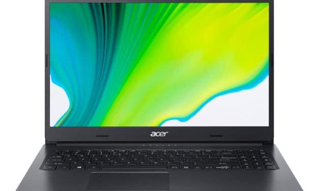 Acer Aspire A315-23-R34S, 15 pouces compact et rapide pour la bureautique (549€)