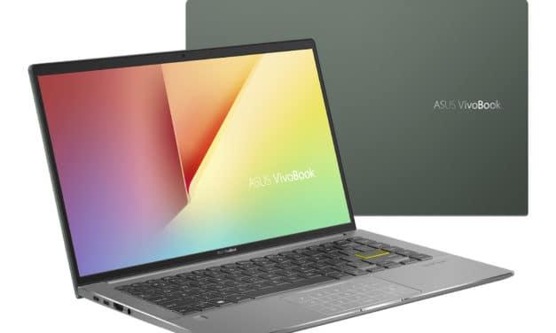"""Asus VivoBook S14 S435EA-HM004T, Ultrabook 14"""" vert polyvalent fin léger et rapide Tiger Lake Iris Xe TB4 (1109€)"""