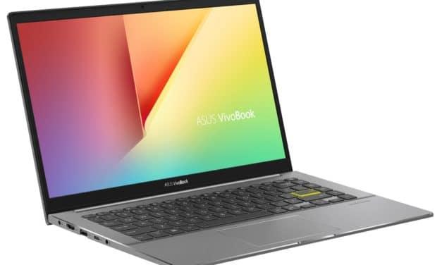 Asus VivoBook S433IA-HM888T, ultrabook 14 pouces puissant avec Ryzen 7 (879€)