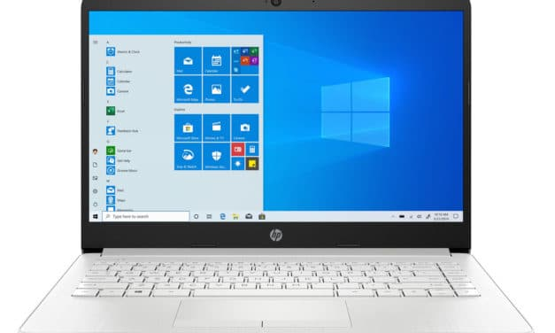 """HP 14-dk1023nf, PC portable 14"""" argent pas cher fin et léger avec gros stockage (426€)"""