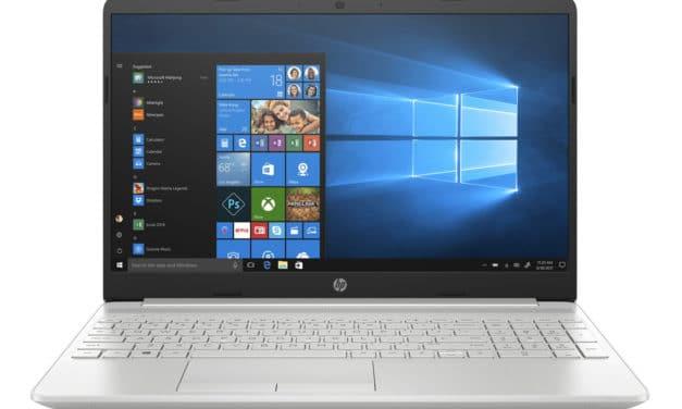 """HP 15-dw1055nf, Ultrabook 15"""" Haute Définition argent léger rapide et fin avec SSD et USB-C (699€)"""