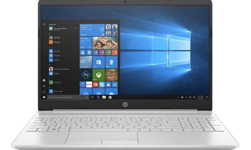 """<span class=""""nouveau"""">Nouveau 699€</span> HP 15-dw1055nf, Ultrabook 15"""" Haute Définition argent léger rapide et fin avec SSD et USB-C"""