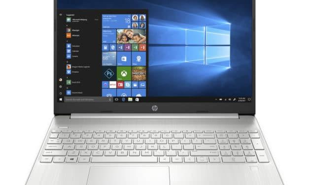 """HP 15s-eq1058nf, PC portable 15"""" Full HD argent élégant pas cher rapide fin et léger avec SSD et USB-C (399€)"""
