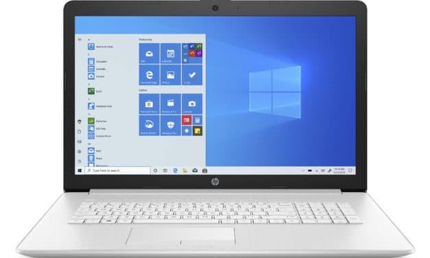 """HP 17-by3018nf, PC portable 17"""" argent rapide fin et léger avec SSD 512 Go et graveur DVD (692€)"""
