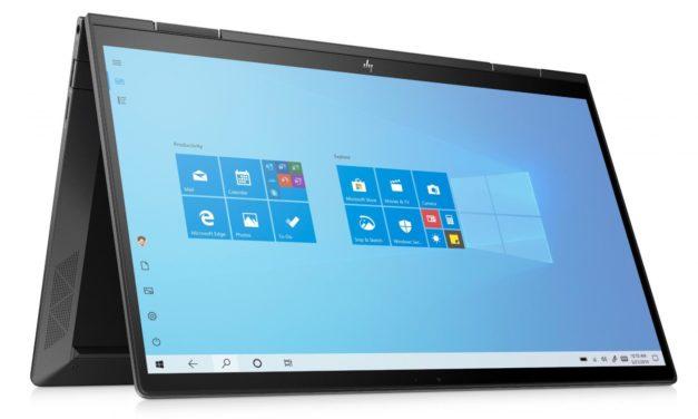 """HP Envy x360 13-ay0014nf, Ultrabook 13"""" tactile > Tablette bois/noir polyvalent AMD Octo Core léger fin et rapide 9h (999€)"""