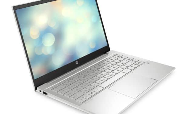 HP Pavilion 14-dv0043nf, ultrabook 14 pouces productif avec Iris Xe (649€)