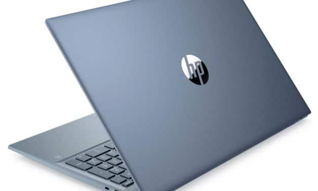 HP Pavilion 15-eh0002nf, ultrabook bleu 15 pouces rapide et productif avec SSD 1 To (798€)