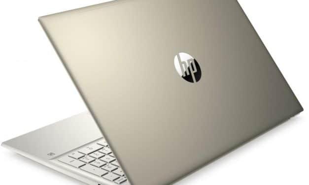HP Pavilion 15-eh0008nf, ultrabook 15 pouces doré et rapide pour usage productif et multimédia (699€)