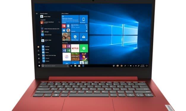 """Lenovo IdeaPad 1 11ADA05 et 14ADA05, PC portables 11"""" et 14"""" AMD pas chers colorés d'entrée de gamme"""