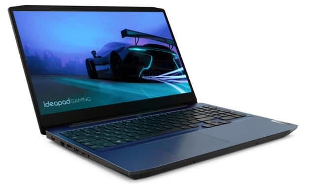 Lenovo IdeaPad Gaming 3 15ARH05, PC portable 15 pouces bleu polyvalent et jeu avec grosse capacité de stockage (1019€)