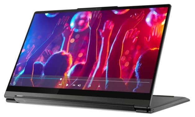 Lenovo Yoga 9 14ITL5, ultrabook 14 pouces tablette 4K premium et léger pour le multimédia (1374€)