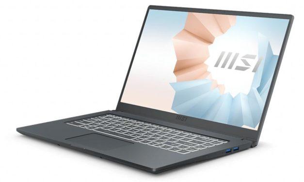 "<span class=""promo-best"">Promo 999€</span> MSI Modern 15 A11SB-047FR, Ultrabook 15"" polyvalent léger fin et rapide avec Tiger Lake GeForce MX450 et TB4"