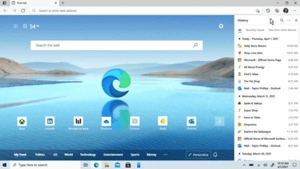 Microsoft Edge Chromium 89