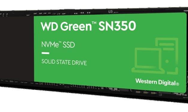 Western Digital, nouveau SSD WD Green SN350 compact M.2 NVMe économique