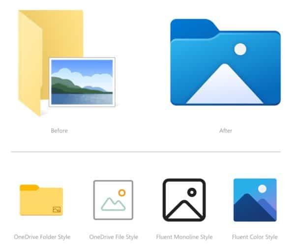 Windows 10 Build 21343 icones explorateur