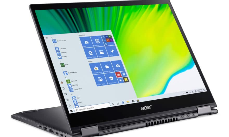 """<span class=""""promo"""">Promo 1169€</span> Acer Spin 5 SP513-55N-52HF, ultrabook 13 pouces Tablette multimédia QHD+ avec stylet"""