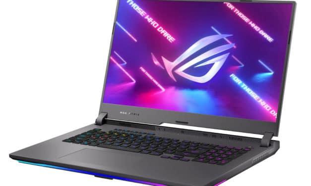 """Asus ROG Strix G17 G713QR-HG026T, PC portable 17"""" 300Hz gamer créateur RTX 3070 RAM 32 Go Ryzen 9 AMD (2379€)"""