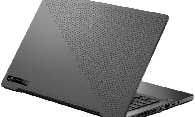 """Asus ROG Zephyrus G14 GA401QM-091T, PC portable 14"""" 144Hz gamer créateur 7h RTX 3060 AMD Ryzen 9 (1499€)"""