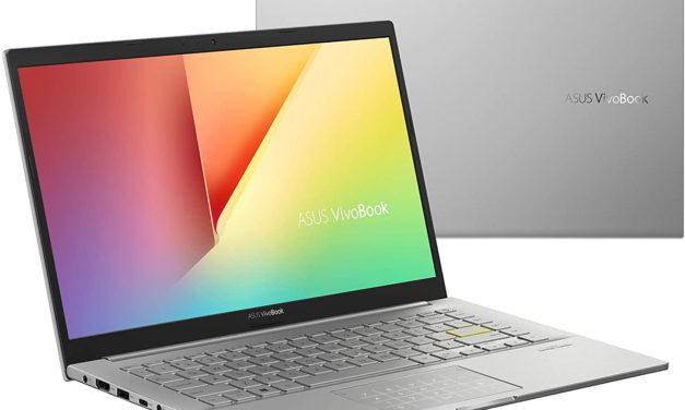 """Asus VivoBook S433EA-EB778T, Ultrabook 14"""" polyvalent argent fin léger et rapide avec TB4 Tiger Lake Iris Xe NumPad (999€)"""