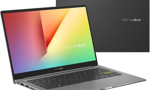 """Asus VivoBook S15 S533EQ-BQ132T, Ultrabook 15"""" noir polyvalent léger fin et rapide 9h avec Tiger Lake MX350 Optane TB4 (899€)"""
