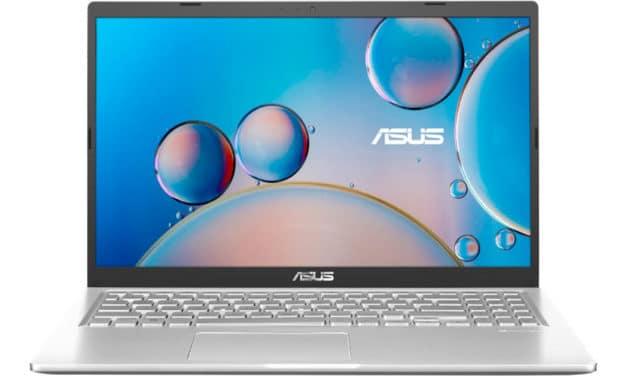 """Asus Vivobook R515JA-BQ856T, Ultrabook 15"""" argent polyvalent fin léger et rapide en pack avec souris et sacoche (749€)"""