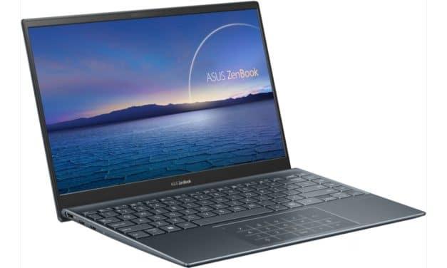"""Asus ZenBook 14 UX425EA-HA215T, Ultrabook 14"""" WQHD polyvalent léger 1Kg fin rapide TB4 Tiger Lake Iris Xe NumberPad (1699€)"""