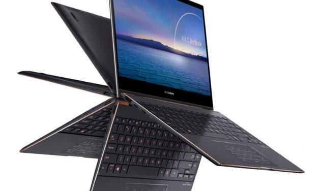 """Asus ZenBook Flip S UX371EA-HL041T, Ultrabook 13"""" 4K OLED léger tactile Tablette polyvalent Tiger Lake Iris Xe TB4 (1899€)"""