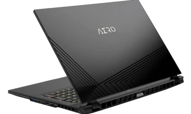"Gigabyte Aero 17 HDR XC-8FR4450SP, PC portable 17"" 4K HDR Pantone puissant gamer créateur RTX 3070 RAM 32 Go TB3 (2899€)"