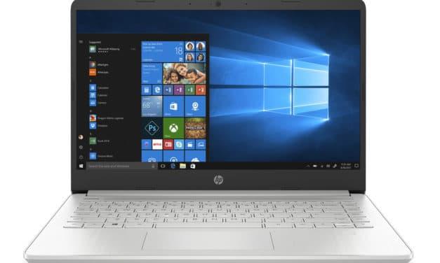 """HP 14s-fq0001sf, PC portable 14"""" pas cher argent élégant léger rapide et fin avec SSD et USB-C (419€)"""