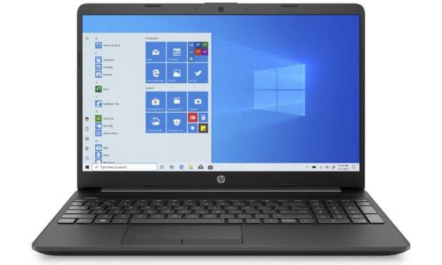 """<span class=""""nouveau"""">Nouveau 429€</span> HP 15-gw0000nf, PC portable 15"""" noir pas cher fin et léger avec grosse capacité de stockage et USB-C"""