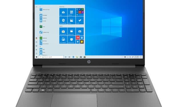 """HP 15s-eq1079nf, PC portable 15"""" pas cher foncé léger fin et rapide avec SSD et USB-C (403€)"""
