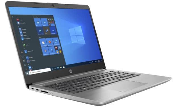 """HP 245 G8 (2X8A2EA), PC portable 14"""" Pro polyvalent AMD argent rapide fin et léger avec clavier rétro éclairé (742€)"""