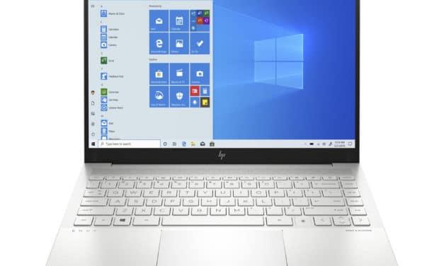 """<span class=""""promo"""">Promo 1619€</span> HP Envy 14-eb0003nf, ultrabook 14 pouces polyvalent avec GTX 1650 Ti et bonne autonomie"""