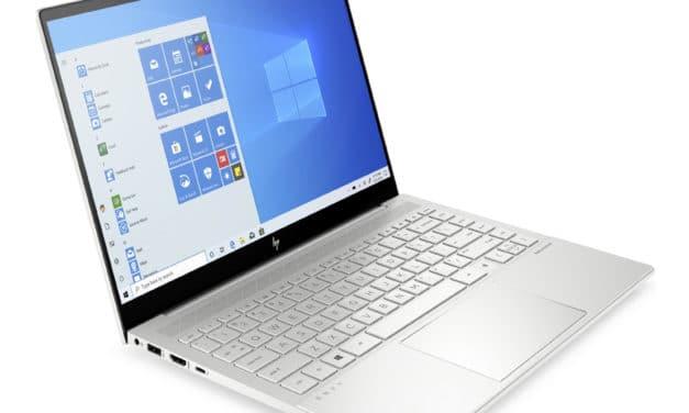 HP Envy 14-eb0046nf, ultrabook 14 pouces polyvalent et endurant avec GTX 1650 Ti (1349€)