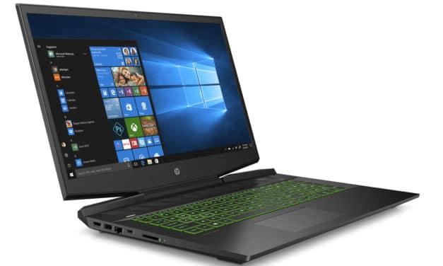 """<span class=""""nouveau"""">Nouveau 1049€</span> HP Gaming Pavilion 17-cd1119nf, PC portable 17"""" 144Hz gamer créateur GTX 1650 Ti noir Wi-Fi ax"""
