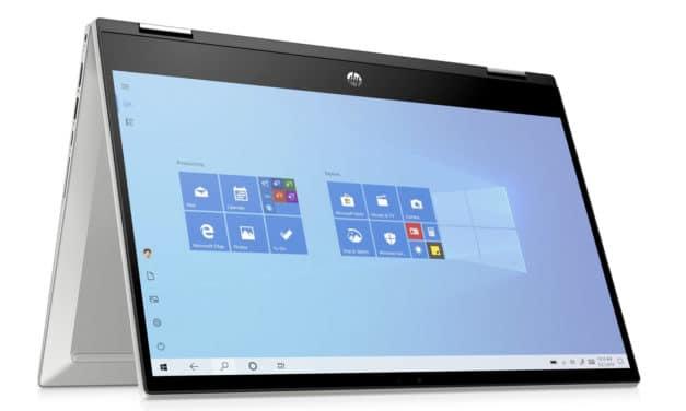 """<span class=""""nouveau"""">Nouveau 899€</span> HP Pavilion x360 14-dw1002nf, Ultrabook 14"""" tactile Tablette argent polyvalent rapide léger et fin avec Tiger Lake Iris Xe"""