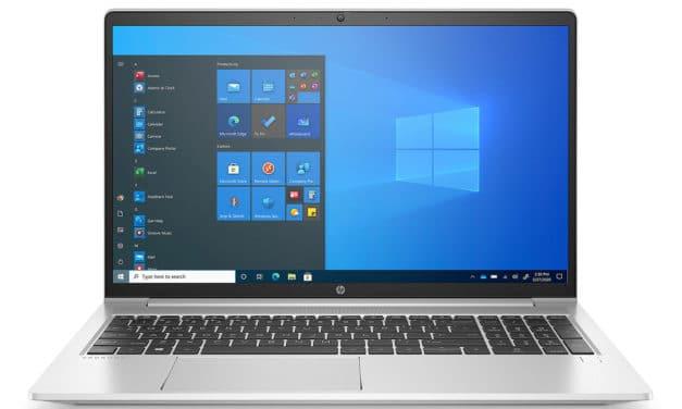 """<span class=""""nouveau"""">Nouveau 1210€</span> HP ProBook 455 G8 (32P00EA), PC portable 15"""" Pro polyvalent AMD Cezanne Ryzen 5000U léger fin et rapide"""